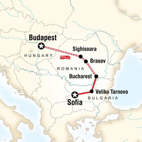 G Adventures Budapest to Sofia by Rail